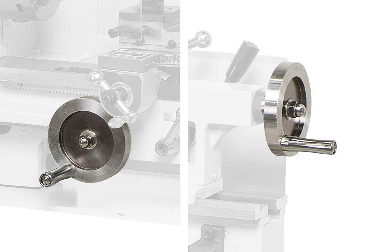 BERNARDO Drehmaschine Handräder in Metallausführung