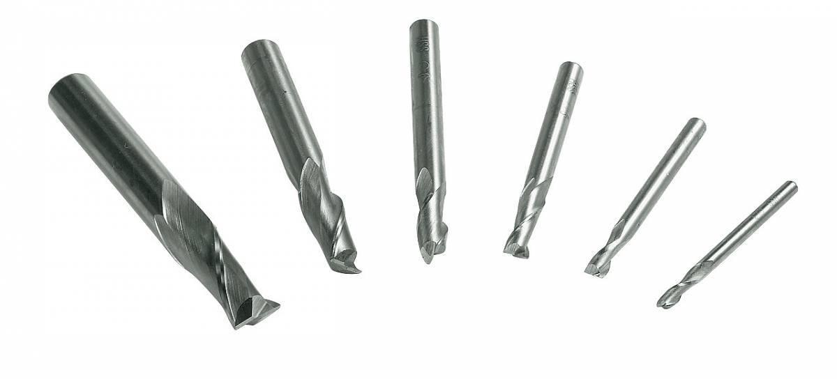 BERNARDO Fräswerkzeuge Satz Schaftfräser 3 - 10 mm, 6-tlg.