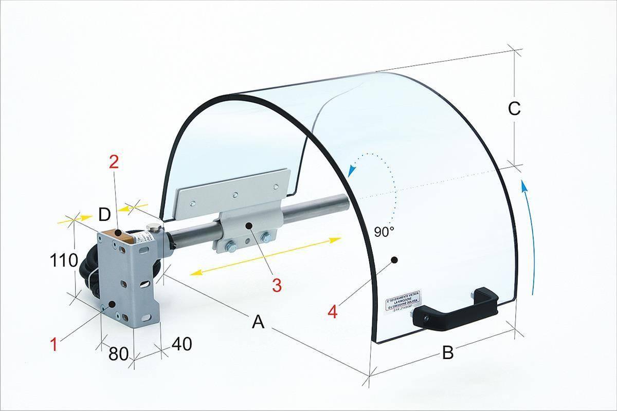 BERNARDO Schutzeinrichtungen für Drehmaschine PTO 02/400