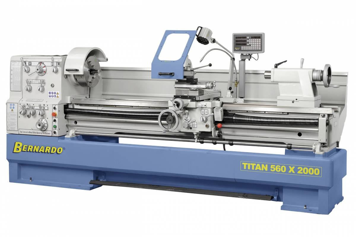 BERNARDO Universaldrehmaschine mit Digitalanzeige Titan 560 x 1500