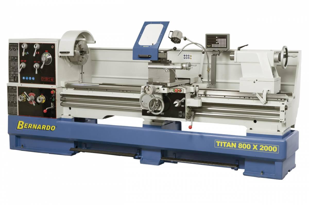 BERNARDO Universaldrehmaschine mit Digitalanzeige Titan 800 x 2000