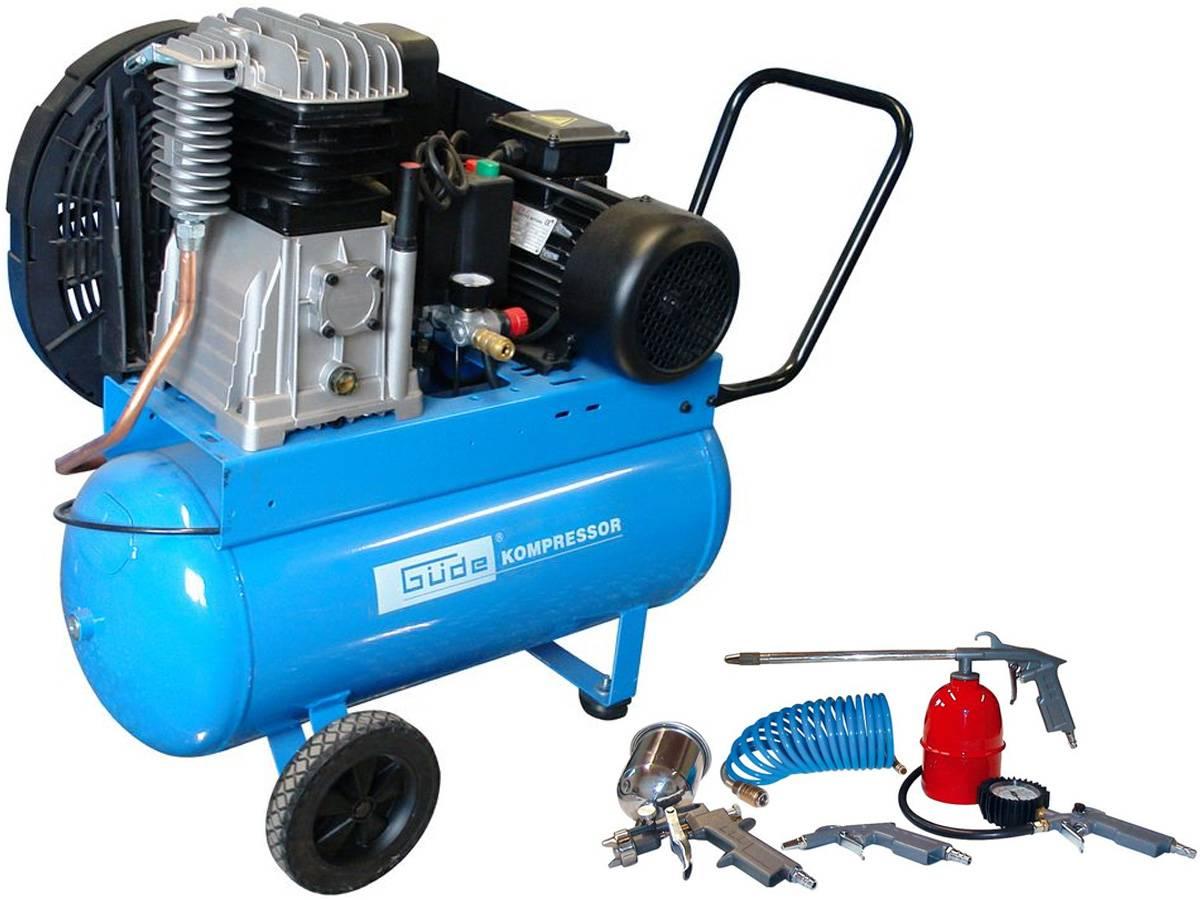 Güde Druckluft Kompressor 580/10/50 EU 400V inkl. 5-tlg. Druckluftset